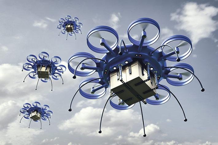 Kein unplausibles Zukunftsszenario: Drohnen könnten bald Briefträger und Paketboten ersetzen.