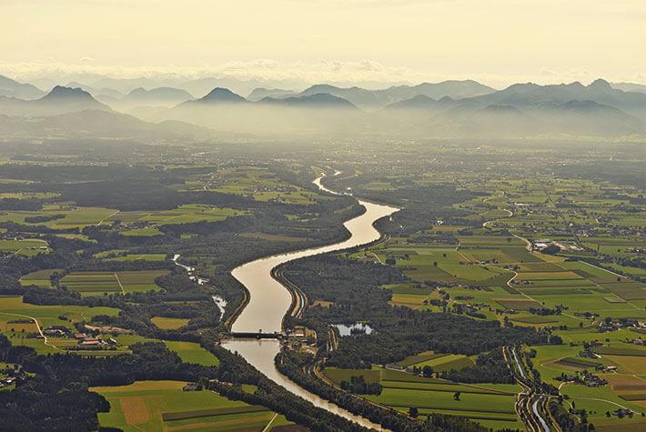 Wirklicher Ökostrom, erzeugt in einem deutschen Laufwasserkraftwerk.