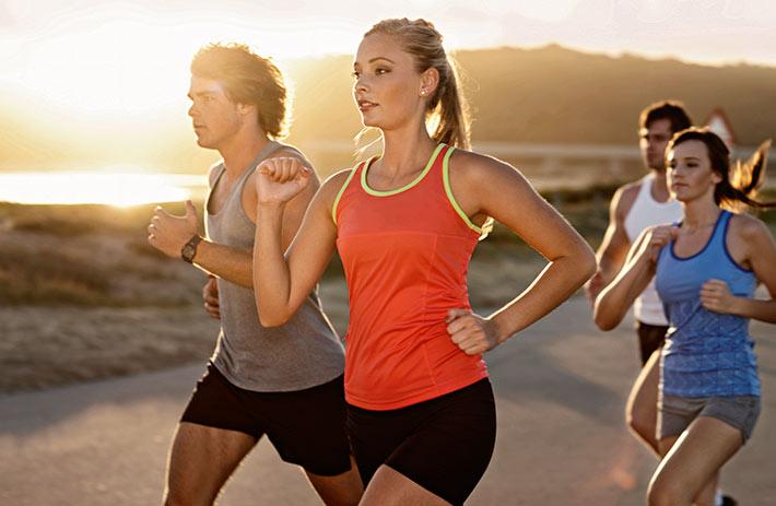 Laufen in der Gruppe macht noch mehr Spaß.