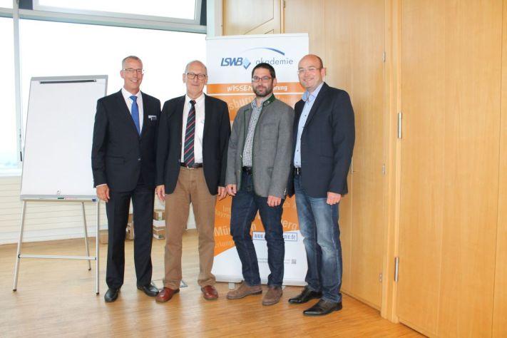 Nach der Wahl (v. l.): Dr. Peter Leidel, Markus Zwicklbauer, Andreas Ponkratz und Gerhard Rothbauer.