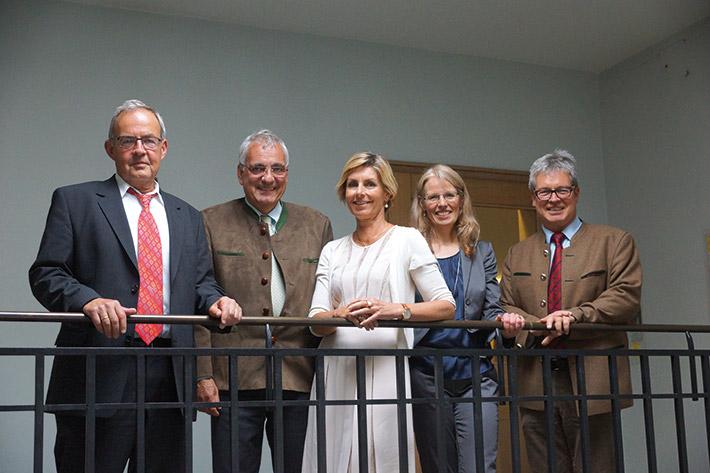 Gutes Klima (v.l.): Hans-Jürgen Vogel, Dr. Hartmut Schwab, Sabine Dietloff, Kerstin Brückl, Nicolas Hofmann.