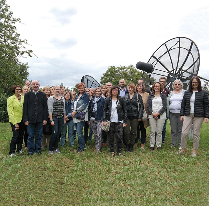 Das LSWB-Team vor der Sternwarte Bamberg.
