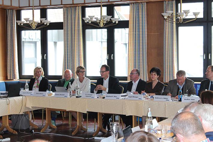 Besuch der Finanzverwaltung: Christoph Habammer (Mitte) und das LSWB-Präsidium.